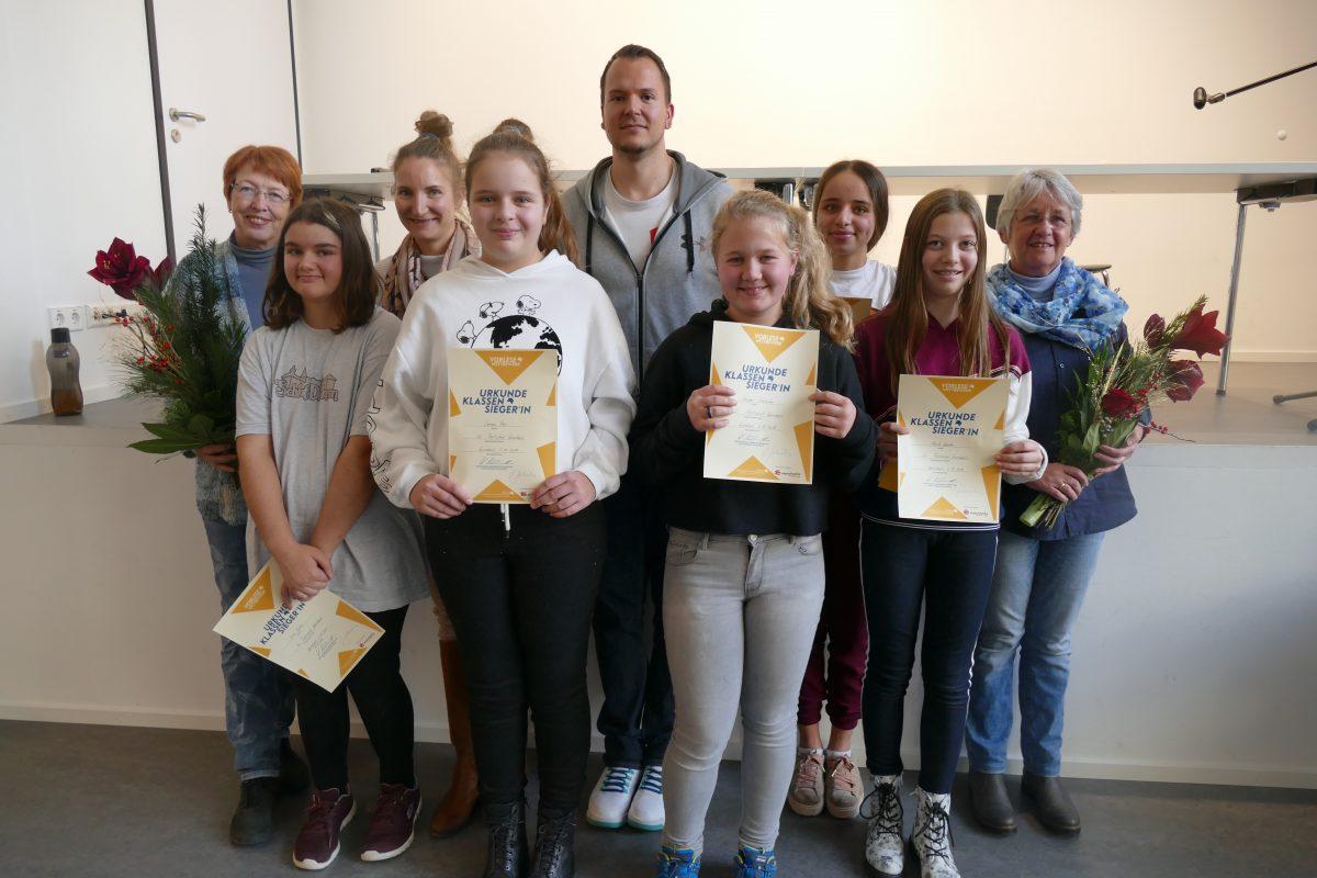 Die Gewinnerinnen des Vorlesewettbewerbs 2019 an der RSG